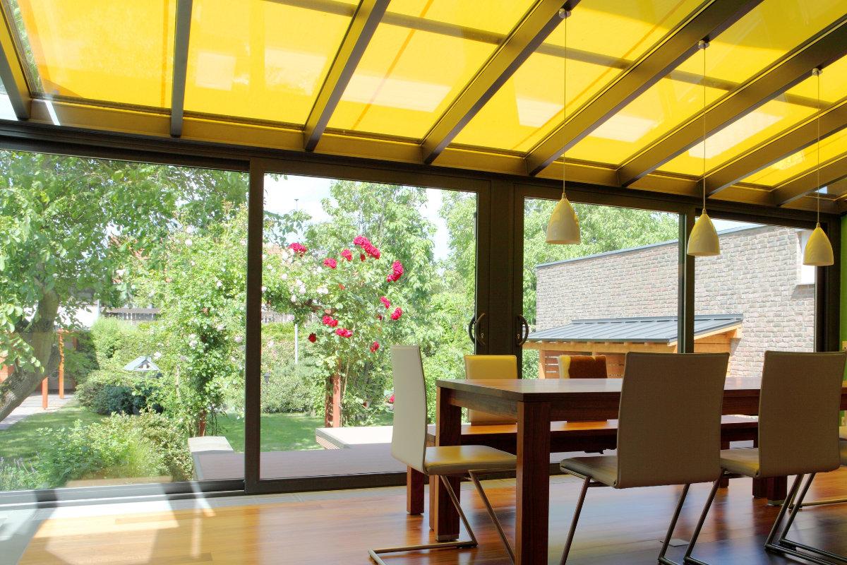 Glazen veranda - glazen schuifdeur