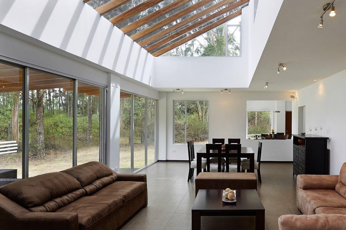 strakke veranda in hout en aluminium