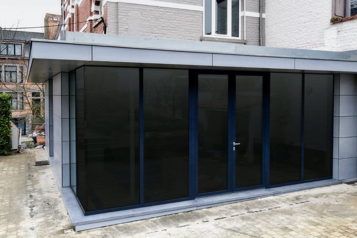 aanbouw veranda met plat dak