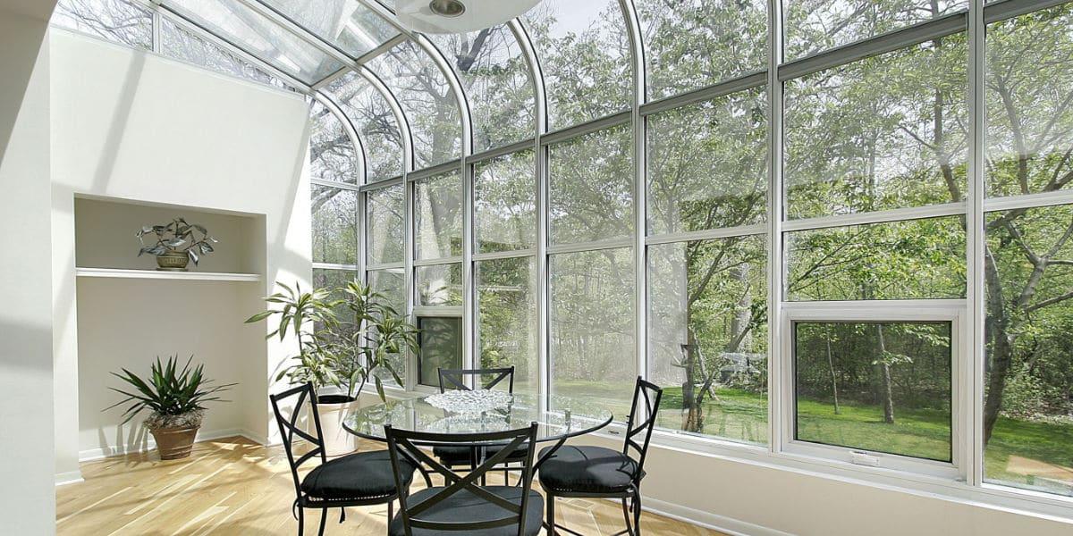 veranda in aluminium