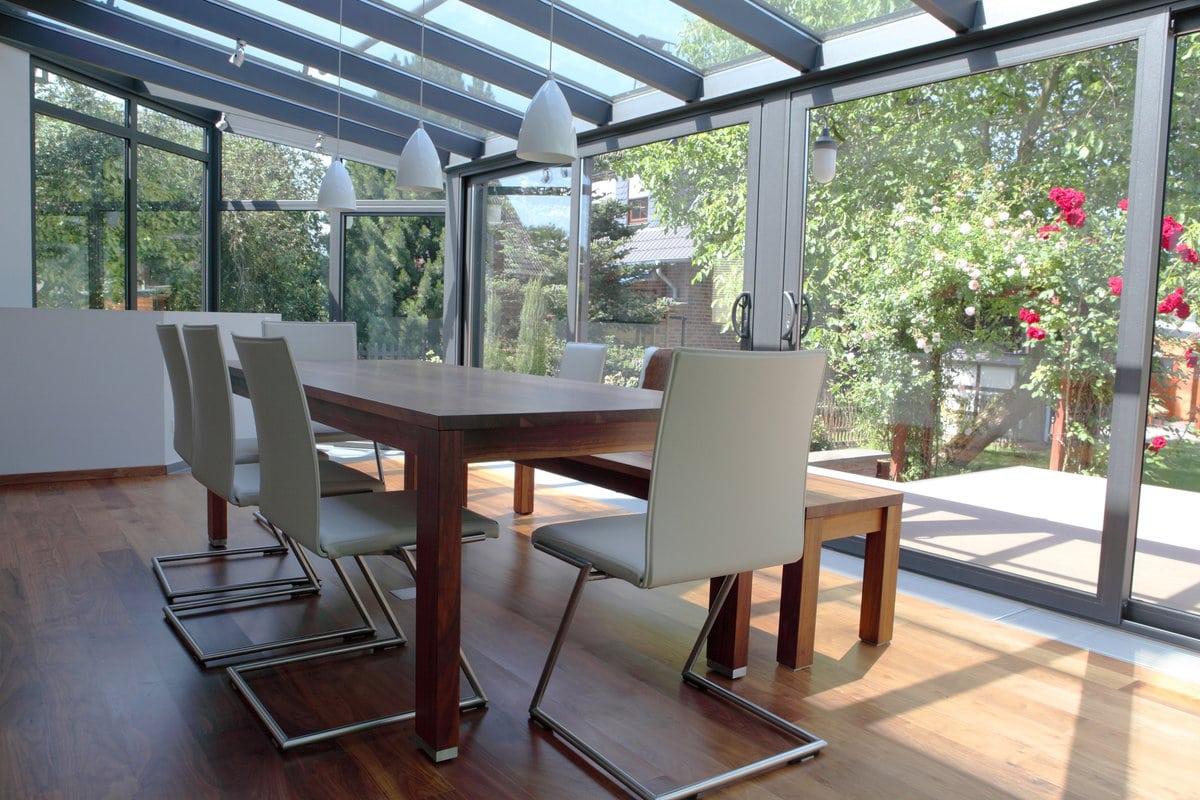 veranda met aluminium profiel
